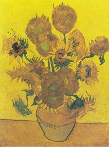 I Girasoli di Van Gogh dipinti nel 1889 e che oggi si trovano al Van Gogh Museum di Amsterdam (NL)